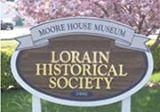 Lorain Historical Society sign.