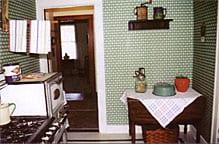 Kitchen exhibit at John Glenn's boyhood home.
