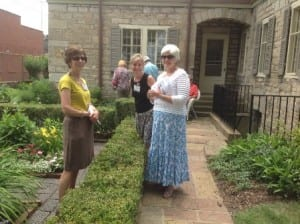 Garden tour at Matthews House, June 2014. Courtesy of Pioneer & Historical Society of Muskingum County.